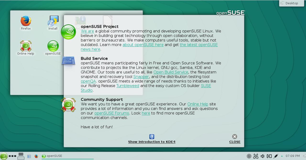 Οθόνη καλωσορίσματος KDE