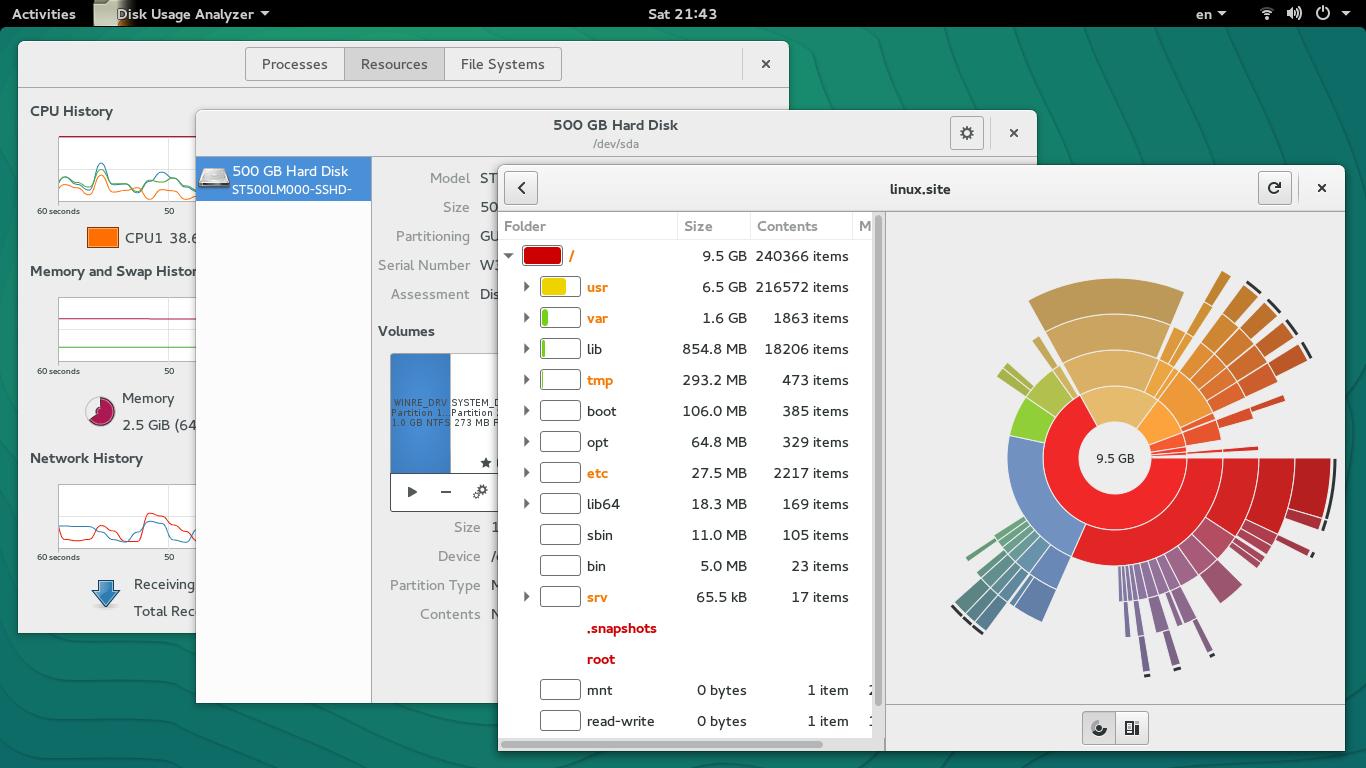 Εργαλεία συστήματος GNOME